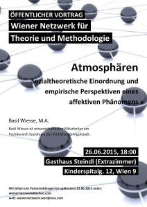 WNTM-Vortrag von Basil Wiesse - Atmosphären (26.6.2015)